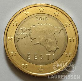 1 euro Estland 2018 UNC 'Kaart van Estland'