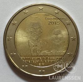 2 euro Luxemburg 2015 UNC '15 jaar Henri'