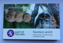 Coincard Finland 2010 met de 1,2 en 5 eurocent