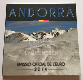 BU set Andorra 2014 (1 cent - 2 euro) in blister