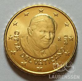50 cent Vaticaanstad 2012 UNC