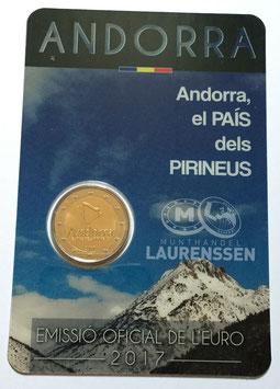 2 euro Andorra 2017 BU 'Het land in de Pyreneeën' in coincard