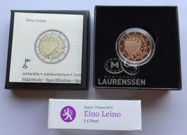 2 euro Finland 2016 Proof 'Eino Leino' in cassette