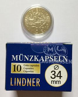 Lindner capsules voor 3 euromunten Oostenrijk (34 mm)