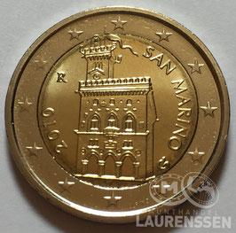 2 euro San Marino 2010 UNC 'Regeringsgebouw'