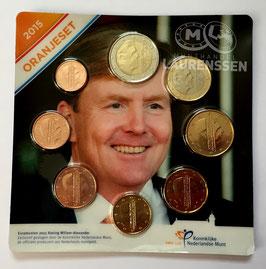 Oranjeset Nederland 2015 UNC (1 cent - 2 euro) in coincard