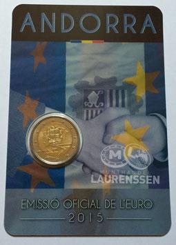 2 euro Andorra 2015 BU '25 jaar Douane Unie EU' in coincard