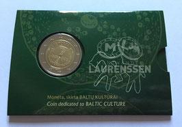 2 euro Litouwen 2016 BU 'Baltische Cultuur' in coincard