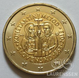 2 euro Slowakije 2013 UNC 'Constantijn en Methodius'