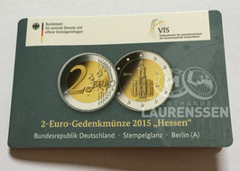 2 euro Duitsland 2015 BU letter A 'Hessen' in coincard