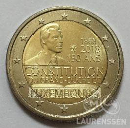 2 euro Luxemburg 2018 UNC '150 jaar grondwet'