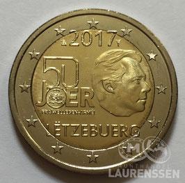 2 euro Luxemburg 2017 UNC 'Vrijwillig Leger'