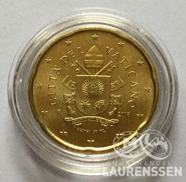 20 cent Vaticaanstad 2018 uit BU set in capsule