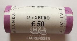 Muntrol 2018 2 euro Letland 'Onafhankelijkheid Baltische Staten' 25x 2 euro in rol
