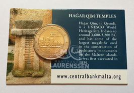 2 euro Malta 2017 BU 'Hagar Qim Tempels' in coincard