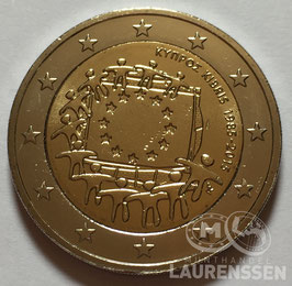 2 euro Cyprus 2015 UNC '30 jaar Europese Vlag'