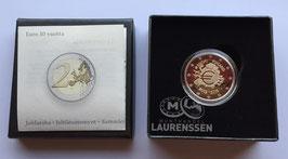 2 euro Finland 2012 Proof '10 jaar Euro' in cassette