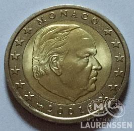2 euro Monaco 2001 UNC 'Prins Reinier III'