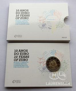 2 euro Portugal 2012 Proof '10 jaar Euro' in blister