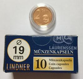 Lindner capsules voor 2 eurocent (19 mm)
