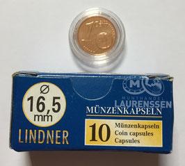Lindner capsules voor 1 eurocent (16,5 mm)