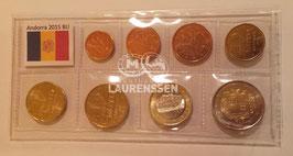 BU set Andorra 2015 (1 cent - 2 euro) in opbergstrip