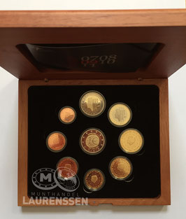 Proof set Nederland 2009 (1 cent - 2 euro + 2 euro 'EMU') in cassette