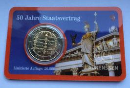 2 euro Oostenrijk 2005 '50 jaar Staatsverdrag' in coincard