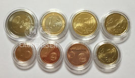 Lindner capsules voor serie euromunten (1 cent - 2 euro)