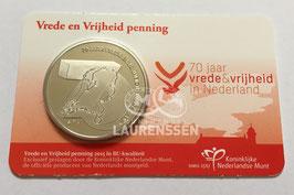 Vrede en Veiligheid penning 2015 BU in coincard