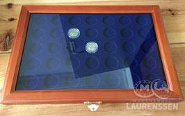 SAFE munt vitrine voor 35x 2 euromunten in capsule