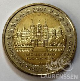 2 euro Duitsland 2007 UNC letter A 'Kasteel Schwerin'