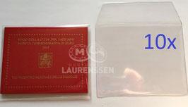 10x hoesje voor het opbergen 2 euro blister Vaticaanstad