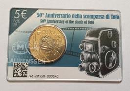 5 euro Italië 2017 BU 'Toto' in coincard