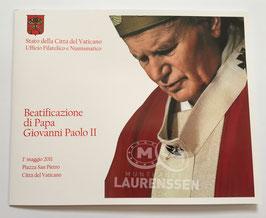 50 cent coincard Vaticaanstad 2011 BU + postzegels in numisbrief