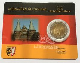2 euro Duitsland 2006 UNC letter D 'Slot Holstein' in coincard