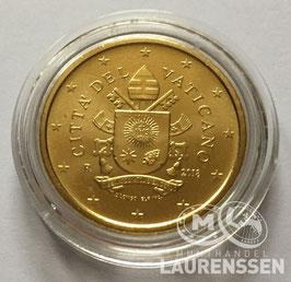 10 cent Vaticaanstad 2018 uit BU set in capsule