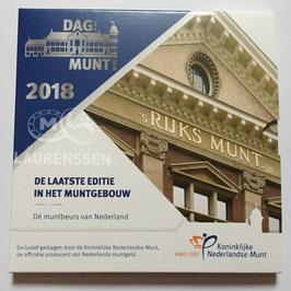 Dag van de Munt set Nederland 2018 BU-kwaliteit (1 cent - 2 euro) in blister