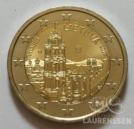 2 euro Litouwen 2017 UNC 'Vilnius'
