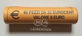 Muntrol 2017 20 cent San Marino 'de drie torens van San Marino' 40x 20 eurocent in rol
