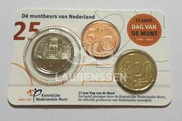 25 jaar Dag van de Munt coincard 2017 (5 cent, 20 cent + penning)