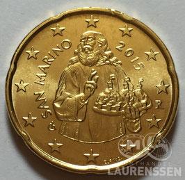 20 cent San Marino 2015 UNC