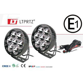 LIGHTPARTZ® 70W/11000lm Scheinwerfer 10° Spotlight Black Edition