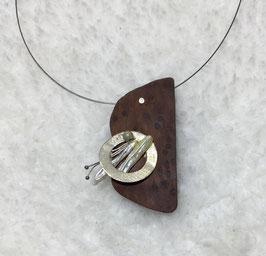 Holzkette Silberring