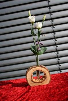 Vase aus Baumscheibe