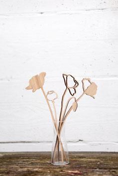 Poppy wood sculpture