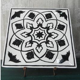Plato negro blanco
