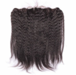 PREMIUM VIRGIN LACE FRONTAL KINKY STRAIGHT