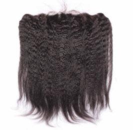 PREMIUM VIRGIN HAAR LACE FRONTAL -SPITZEN ANSATZ  Haarteil für den Stirnbereich - KINKY STRAIGHT