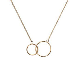 Collier double rond fin plaqué or